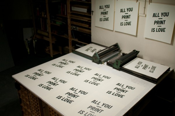 All you print is love. By BunkerType.