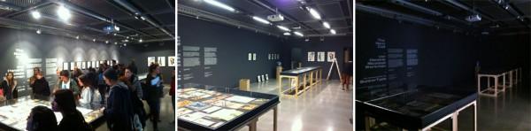 Desmontaje de la exposición sobre Werkman